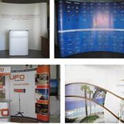 Оборудование мобильное выставочное, аренда мобильного оборудования, промостол, баннерная стойка, мобильный стенд. фото