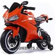 Детский электромотоцикл Ducati 12V FT1628 оранжевый фото