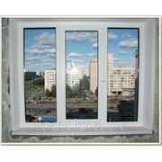 Окно ПВХ 1300*1600 пластиковое в спальню ческой планировки фото
