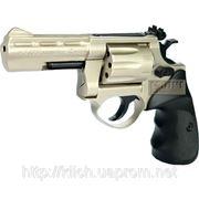Револьвер под патрон Флобера ME 38 Magnum 4R, никелированный, с пластиковой рукояткой фото