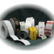 Ярлыки картонные в рулонах фото