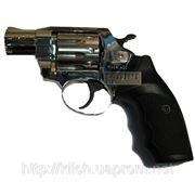 Револьвер под патрон Флобера Alfa 420, хромированный, пластиковая рукоятка фото