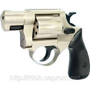 Револьвер под патрон Флобера ME 38 Pocket 4R, никелированный, с пластиковой рукояткой фото