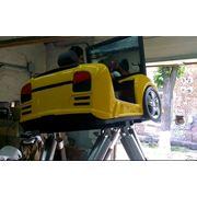 Гоночный тренажер тренажеры вождения купить 6 dof симулятор вождения 6 dof платформа шести степенная платформа. фото