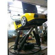 Динамическая платформа подвижная платформа шести степенная платформа 6 dof платформа симулятор вождения. фото