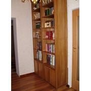 Шкаф для Библиотеки из массива Дуба фото