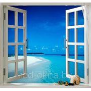 Окно ПВХ 1300*1300 пластиковое в спальню новой планировки фото
