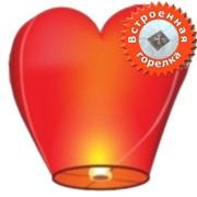 Небесный фонарик Сердце ЭКО фото