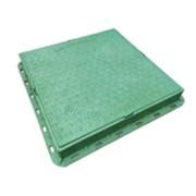 Люк полимерпесчаный легкий 400х450 с замком А15 зеленый 3800033 фото