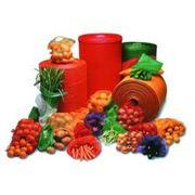 Упаковка овощей и фруктов сетка экструдированная полиэтиленовая для упаковки овощей и фруктов колбасных и мясных изделий и прочих продовольственных товаров. фото