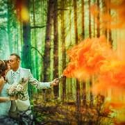 Ручной цветной дым (дымовая шашка), оранжевый, 60 сек., Производство Польша, цветной дым фото