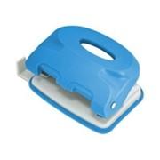 Дырокол COLOURPLAY, на 10 листов, неоновый синий, (INDEX) фото