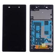 Дисплей для Sony Z1 в сборе с тачскрином на рамке (Black) фото