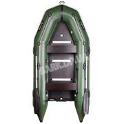 Моторная надувная лодка Bark BT-310S килевая с жестким днищем трехместная. фото