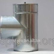 Тройник 87* нерж/оцинк толщина 0,8мм ф180х250 фото