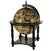 Глобус-бар на подставке d=33 см. фото