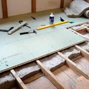 Монтаж деревянного пола фото