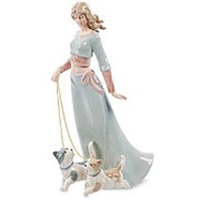 Статуэтка Дама с собаками 15х25х11см. арт.CMS-32/1 Pavone фото