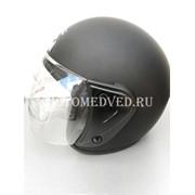 Шлем Jiekai, черный открытый, прозрачное стекло, размер S 55-56, Китай фото