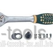 Трещотка с резиновой ручкой - 24 зуб L=215 мм 3/8 Код:80232 фото