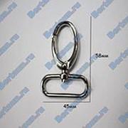 Карабин №30 метал. для сумок GM никель фото