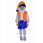 Костюм Гном сине-оранжевый фото