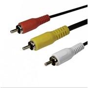 SH8053-3P SHIP кабель, 3,0м., RCA (тюльпан)*3 шт.-->RCA (тюльпан)*3 шт., Чёрный, Пакет фото