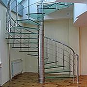 Перила винтовой лестницы фото