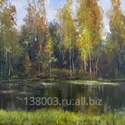 "Картина ""Лесное озеро"" фото"