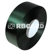 Печать на темно-зеленой сатиновой ленте фото