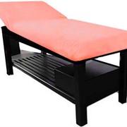 Чехол на кушетку или массажный стол, махровый чехол на резинке (сиреневый) фото