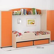 Детская комната Легенда 20 венге светлый/оранж фото
