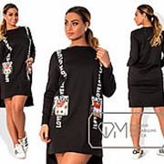 Платье женское чёрное PY/-09 фото