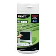 Emtec влажные салфетки для чистки экранов TFT / LCD 100 шт. в пластиковом боксе фото