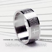 кольцо с молитвой стальное фото