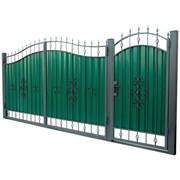 Кованые ворота  3450х2150 мм фото