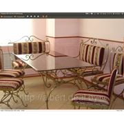 Мебель кованная и предметы интерьера фото