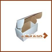 Картонная коробка самосборная 286х148х55, белая, производство, продажа фото