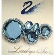 Заколка с кристаллами Swarovski, код 5207274 фото