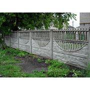 Декоративный бетонный забор фото