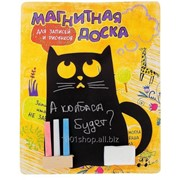 Доска магнитная для рисования Кошка фото