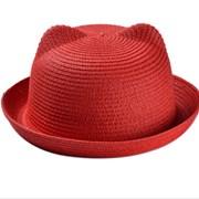 Летняя шляпка с ушками фото