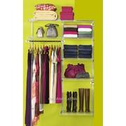 Стеллаж, гардеробная система PARTHOUSE комплект MINI. фото