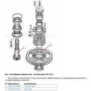 Части запасные к карьерным экскаваторам - платформа поворотная - сборочные единицы и детали экскаватора ЭО-4112 фото