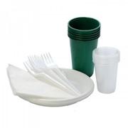 """Набор однораз. посуды """"Турист"""" (6 вил, 6 ст. 0,2л, 6 дес. тар., 6ст 0,1, 6 салф.) фото"""