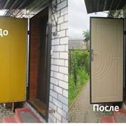 Ремонт и реставрация металлических дверей фото