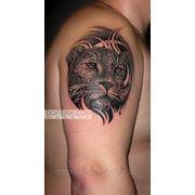 Татуировка Леопард (1 сеанс) фото