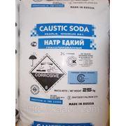 Сода каустическая гранулированная, чешуя в мешках по 25 кг. Производство Россия, Румыния, Польша
