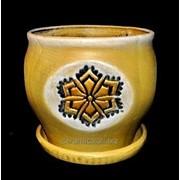 """Горшок для цветов из керамики ручной работы """"Бегония"""" фото"""