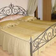 Кровать двуспальная, кованая на заказ фото
